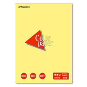 【ポイント20倍】(業務用50セット) Nagatoya カラーペーパー/コピー用紙 【B4/特厚口 50枚】 両面印刷対応 クリーム