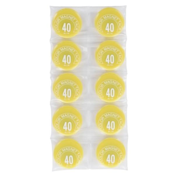 【ポイント20倍】(業務用50セット) ミツヤ カラーマグネット MR-40 黄 40mm 10個 ×50セット
