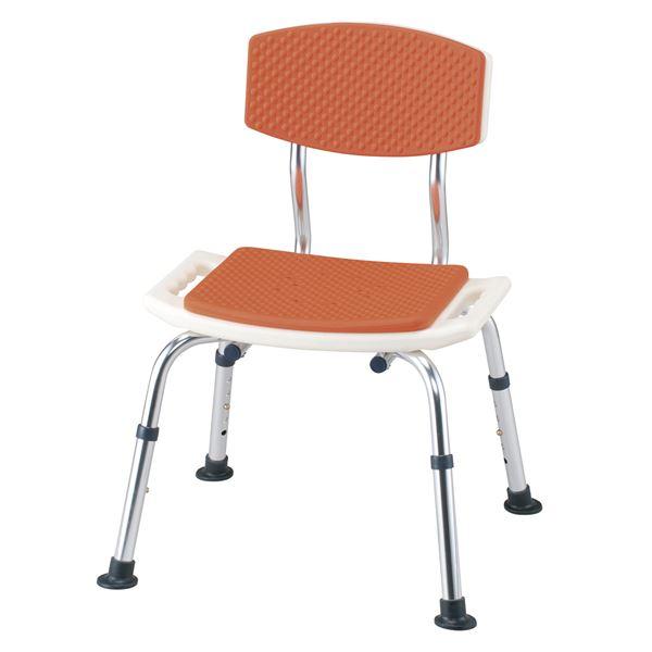 【ポイント20倍】イーストアイ シャワーチェア シャワーベンチすま~いる一般背つきオレンジ N-FCB-D