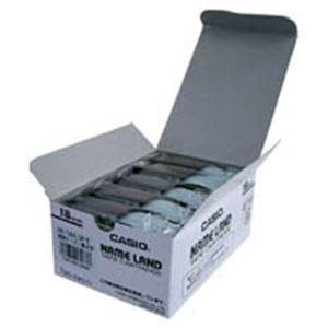 【ポイント20倍】(業務用5セット) カシオ計算機(CASIO) テープ XR-18X-5P-E 透明に黒文字 18mm 5個 【×5セット】