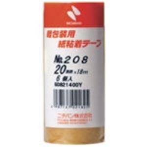【ポイント20倍】(業務用50セット) ニチバン 紙粘着テープ 208-20 20mm×18m 6巻 ×50セット