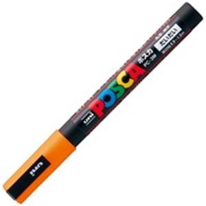(業務用200セット) 三菱鉛筆 ポスカ/POP用マーカー 【細字/橙】 水性インク PC-3M.4