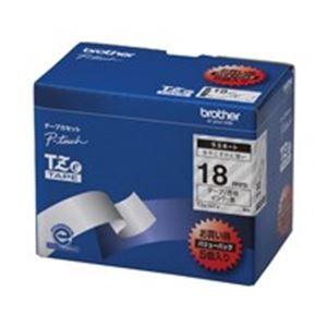 【ポイント20倍】(業務用5セット) brother ブラザー工業 文字テープ/ラベルプリンター用テープ 【幅:18mm】 5個入り TZe-141V 透明に黒文字 【×5セット】