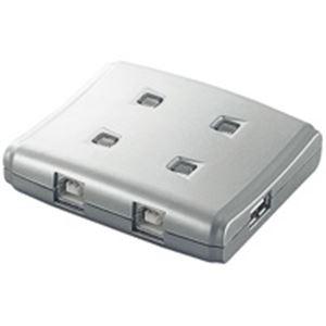 【ポイント20倍】(業務用10セット) エレコム(ELECOM) USB切替器4切替 USS2-W4