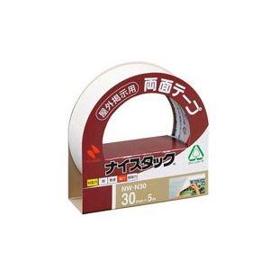 【ポイント20倍】(業務用100セット) ニチバン 両面テープ ナイスタック 【屋外掲示用/幅30mm×長さ5m】 不織布 NW-N30