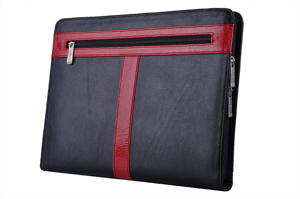 オーガナイザーポートフォリオ   プレミアムビジネスバッグ  A4書類ケース システムファイルパッドフォリオ,ブラック