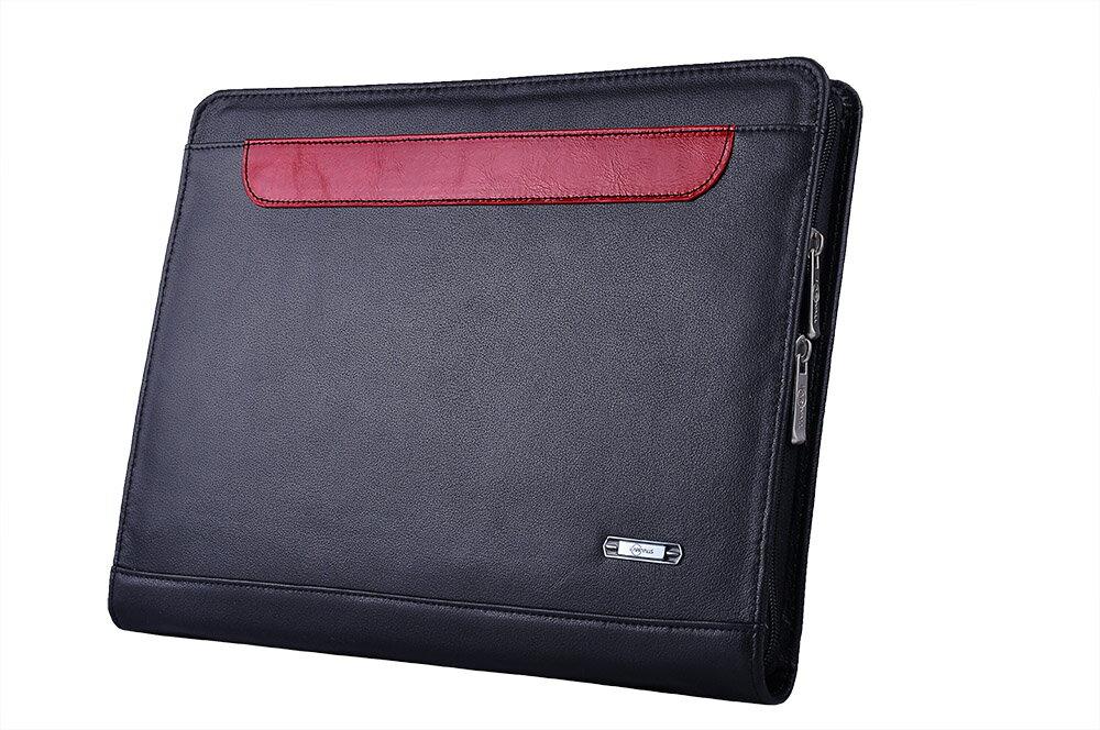 オーガナイザーポートフォリオ   プレミアム 本革レザービジネスバッグ  A4書類ケース,ブラック