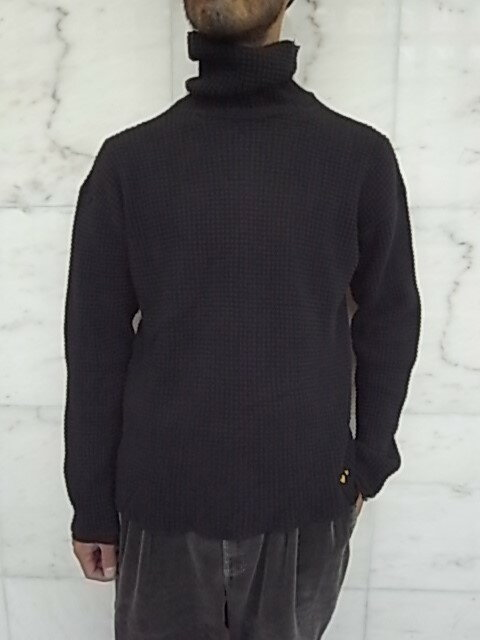 PORTER CLASSIC(ポータークラシック)【FRENCH THERMAL】FRENCH THERMAL TURTLENECK★BLACK★