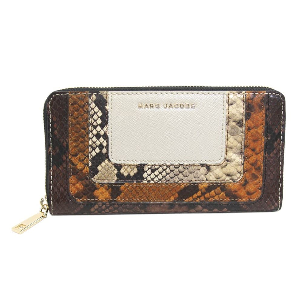 MARC JACOBS マークジェイコブス M0012660-163 Parchment Multi スネーク柄 パッチワーク ラウンドファスナー長財布 Snake Standard Continental Wallet 【RCP】