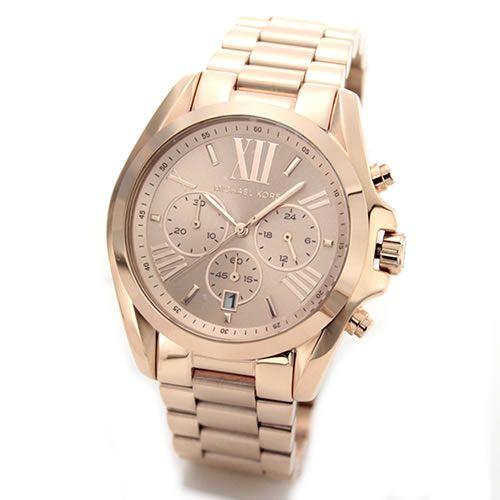 MICHAEL KORS マイケルコース レディース腕時計 オールピンクゴールド・カラーで着飾ったチョイ大きめスタイルのラグジュアリーなクロノグラフ・ウオッチ MK5503 【RCP】 02P12Oct15