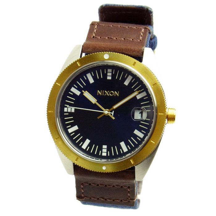 NIXON ニクソン メンズ腕時計 ROVER ローバー ネイビー/ブラウン/ゴールド A3551429 A355-1429 メンズウォッチ 男性用 【RCP】 02P12Oct15