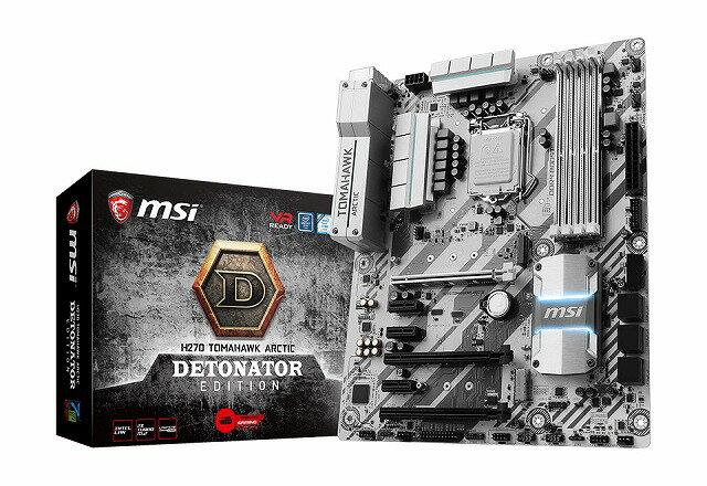 MSI H270 TOMAHAWK ARCTIC DETONATOR EDITION (MB3881) Intel H270チップセット搭載。プロゲームチーム「DeToNator」とコラボレーションした限定モデルのATXマザーボード