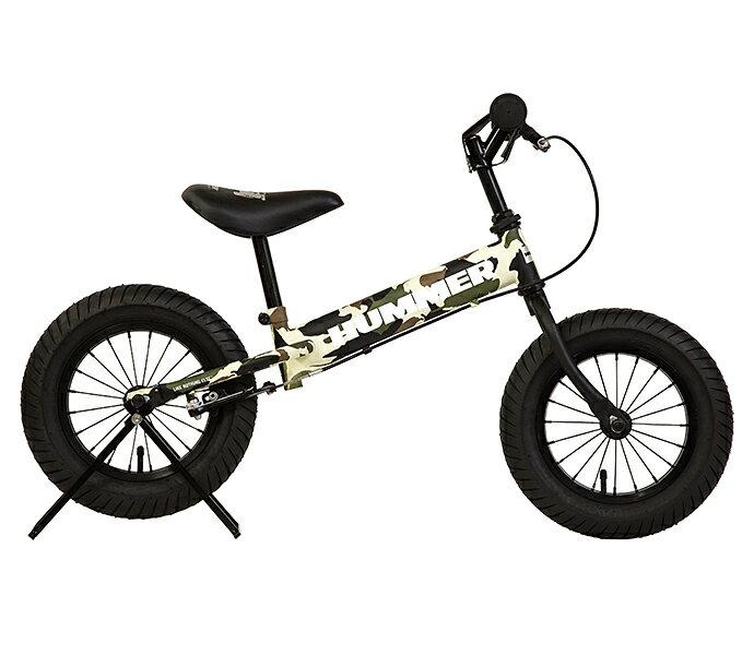 配送先関東限定 HUMMER TRAINEE BIKE グリーン トレーニングバイク ブレーキ付き 極太タイヤ ペダルなし 自転車 ランバイク クリスマス