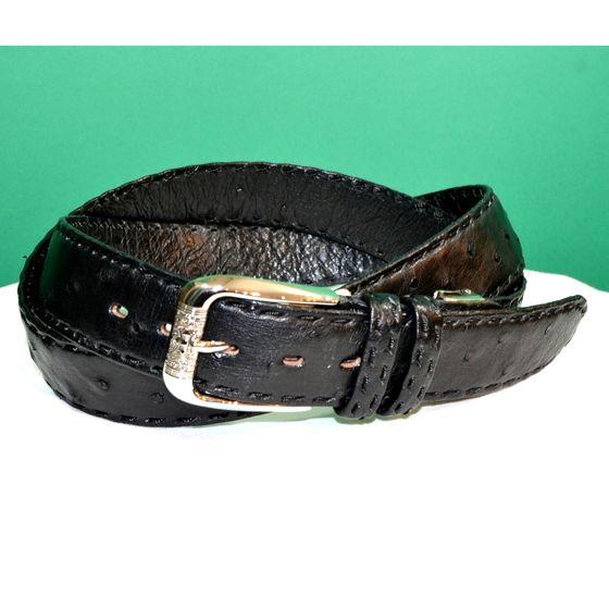 紳士 メンズ ベルト 本革 オーストリッチ ダチョウ革 日本製 110cmロング belt-ost01 (お取り寄せ商品)