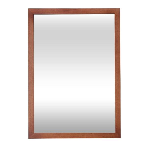 <WJB>壁掛け木枠ミラーS530 ダークブラウン( 日本製 ) [ ウォールミラー 壁掛けミラー 壁掛け鏡 化粧鏡 メイクアップミラー 木製 大型 壁掛け 鏡 ミラー 姿見 サロン アンティーク インテリア ][ Z-1-5 ][ 7エステ ]