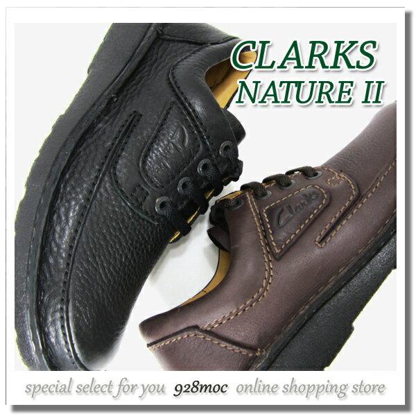 クラークス 靴 メンズ カジュアル CLARKS Nature II 464C B?DBR レースアップシューズ 本革 黒?ダークブラウン クラークスセール