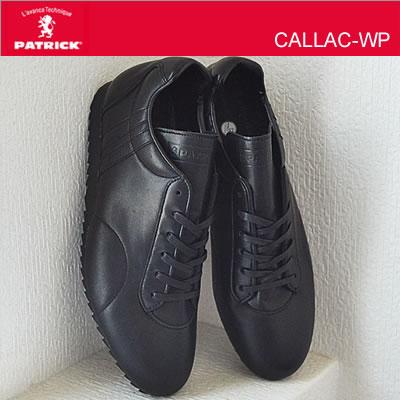 【返品無料対応】 PATRICK パトリック CALLAC-WP カラック?ウォータープルーフ BLK ブラック 靴 スニーカー シューズ 防水 【smtb-TD】【saitama】
