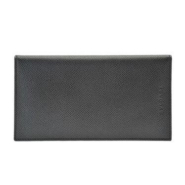 BVLGARI 25752ブルガリ 長財布グレインレザー ブラック