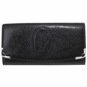 CARTIER L3000911カルティエ財布マルチェロ長札ファスナー財布ブラック