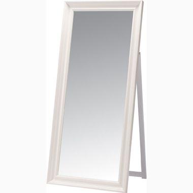 スタンドミラー ワイド 幅広 ホワイト 白 【全身鏡 姿見 鏡 ミラー スタンドミラー 壁掛け 木製 スチール 鏡面 フレーム 飛散防止 吊鏡 全身 送料無料 ポイント】