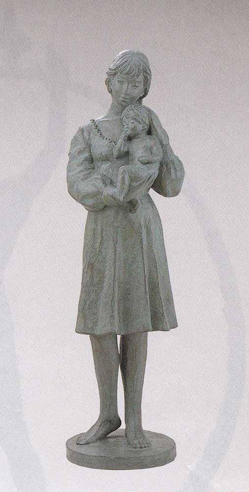 丸山幸一 大型ブロンズ像 マリアの母像 床の間 置物 銅像 全国送料無料 【smtb-k】【ky】