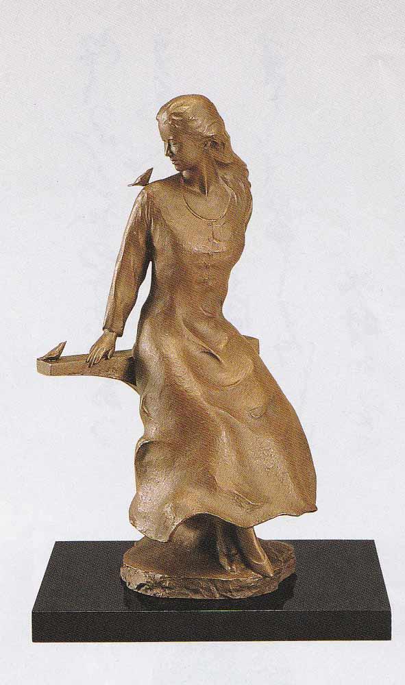 大道寺光弘 洋風 木もれびの中で 床の間 置物 銅像 全国送料無料 【smtb-k】【ky】