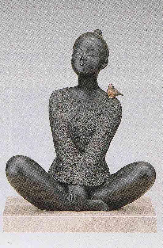 板保次 洋風 おすまし 床の間 置物 銅像 全国送料無料 【smtb-k】【ky】