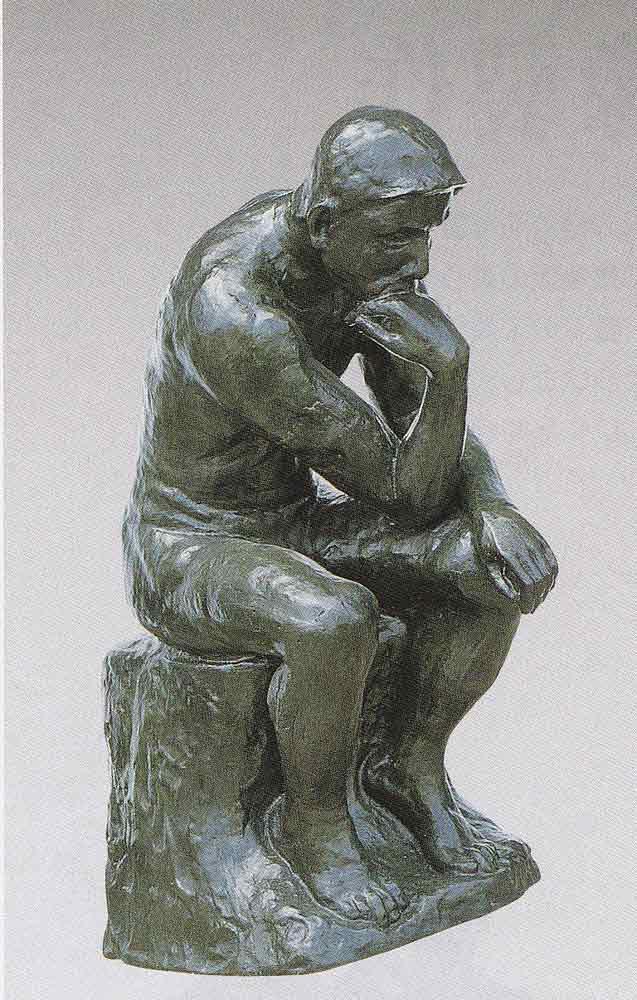 大型ブロンズ像 考える人 45号 床の間 置物 銅像 全国送料無料 【smtb-k】【ky】