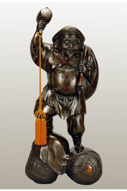 七福神 大黒 28号 和雑貨 開運 床の間 銅像 香炉 送料無料