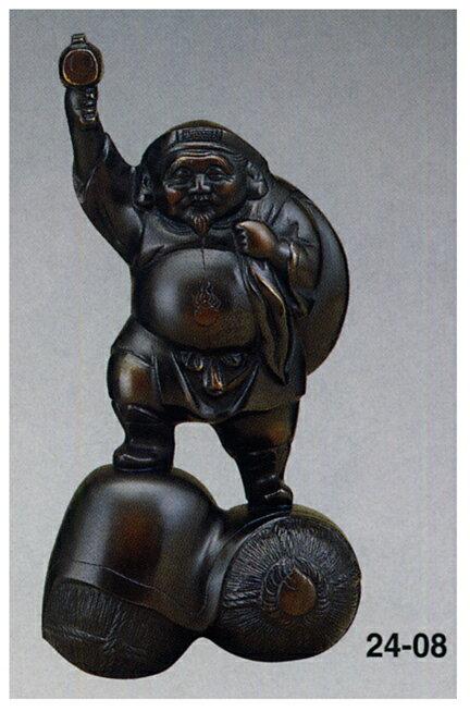 七福神 10号 大黒 和雑貨 開運 床の間 銅像 香炉 送料無料
