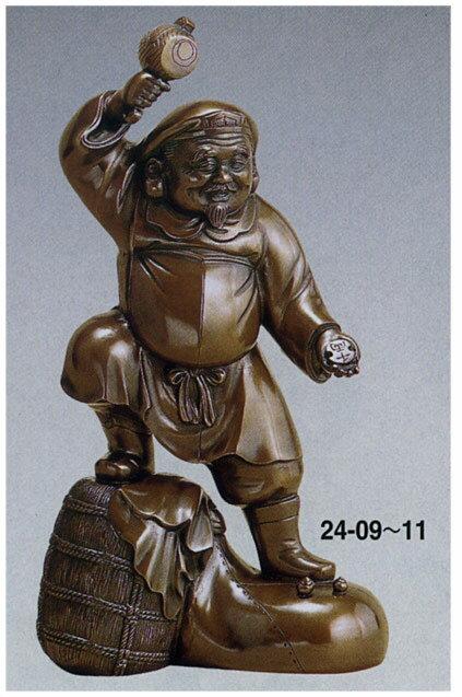 七福神 千両大黒 12号 越井栄山 和雑貨 開運 床の間 銅像 香炉 送料無料