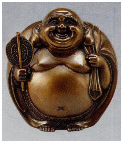 七福神 招福布袋 小 和雑貨 開運 床の間 銅像 香炉 送料無料