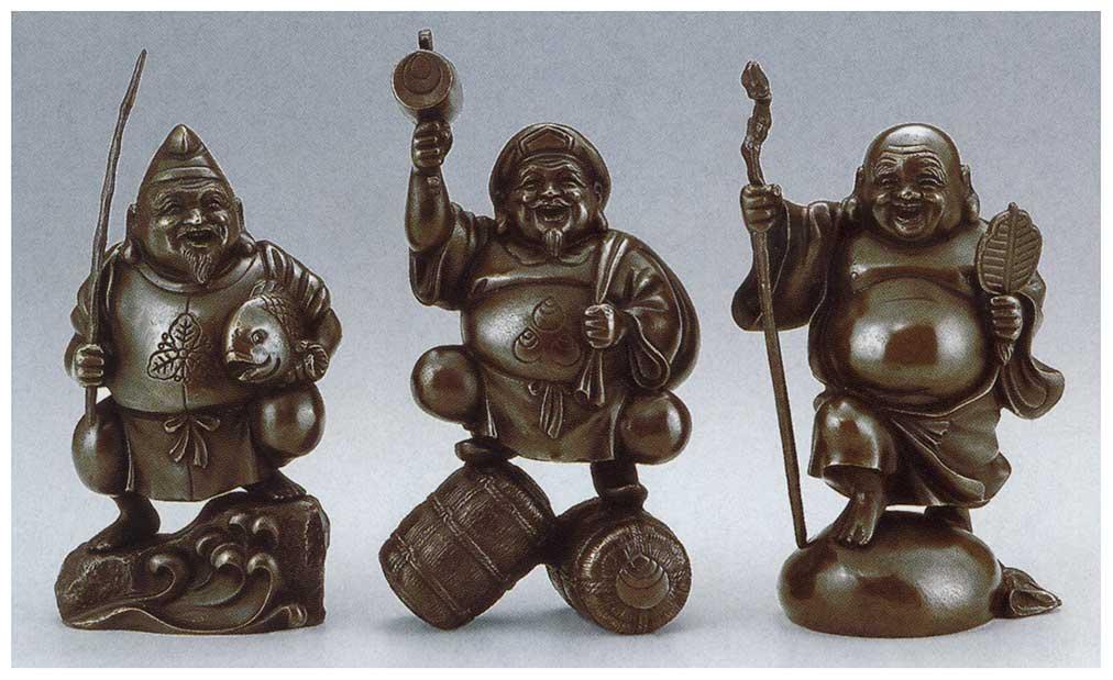 参福神 和雑貨 開運 床の間 銅像 香炉 送料無料