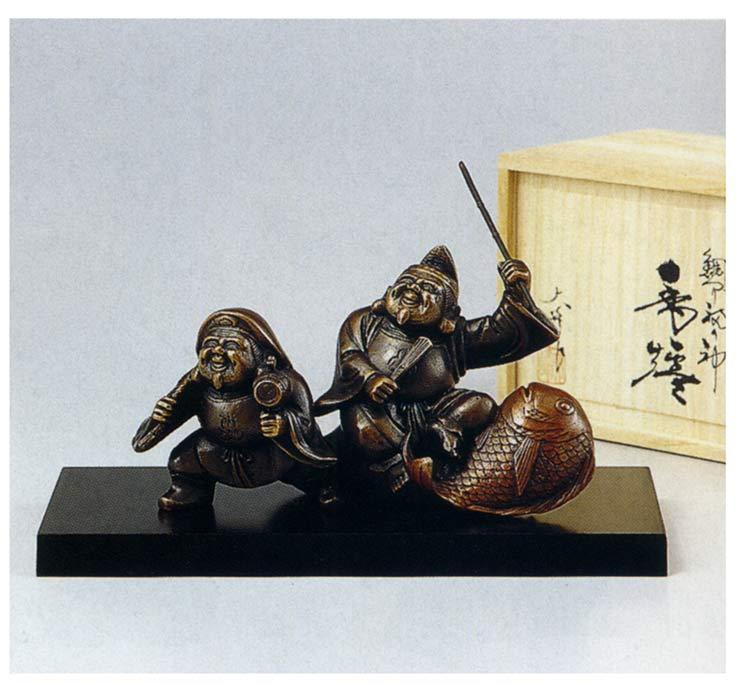 鯛つり福の神 和雑貨 開運 床の間 銅像 香炉 送料無料