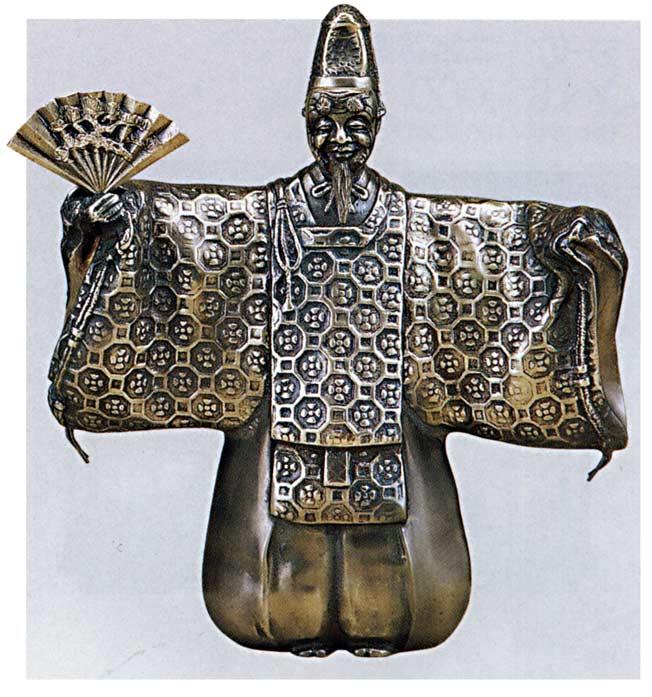 翁地紋 床の間 開運 銅像 和雑貨 送料無料
