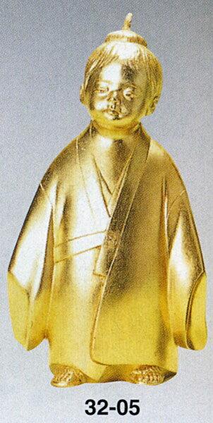 無我童子 米治一 床の間 開運 銅像 和雑貨 送料無料