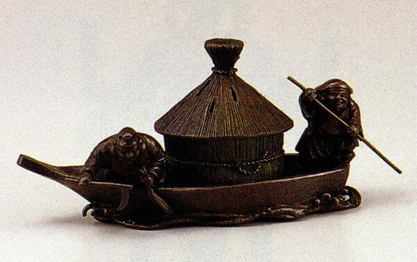 送料無料 香炉 開運 藻かる香炉 大森 孝志 床の間 置物 仏具 銅 ブロンズ