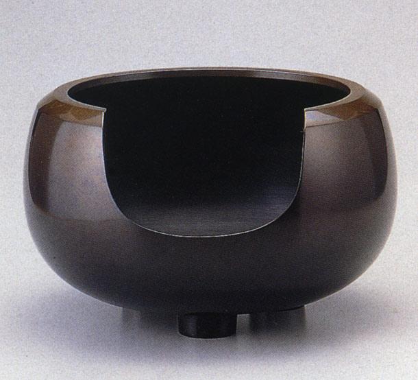 送料無料 通産大臣指定伝統的工芸品 大西風炉 般若宗勘 茶道具 床の間 置物 銅製 ブロンズ