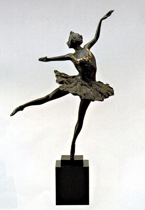 送料無料 バレリーナ 小 彫刻 銅像 和雑貨