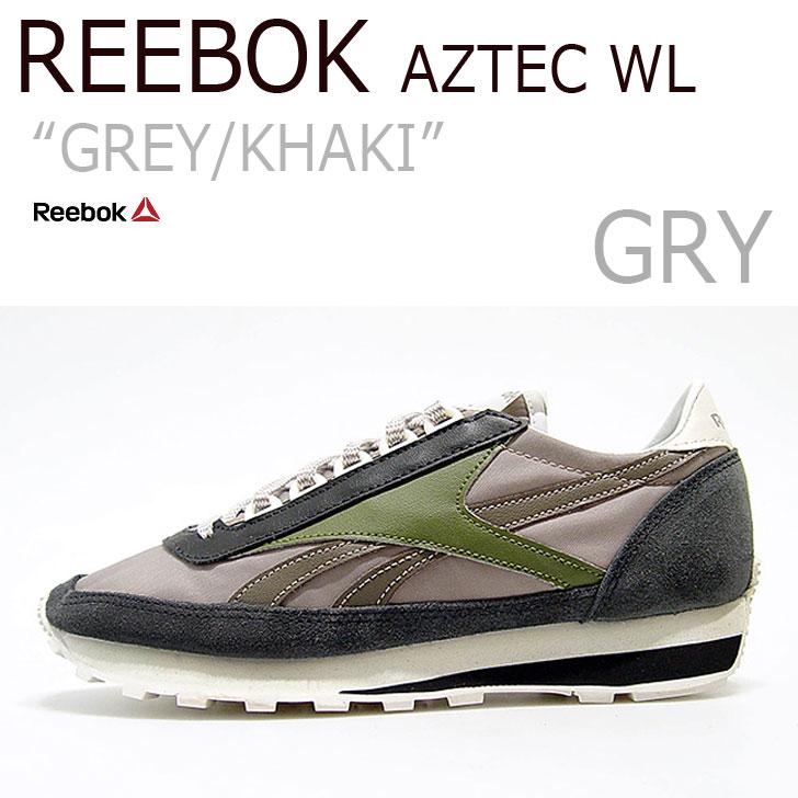 【送料無料】Reebok AZTEC WL GRAY/KHAKI【リーボック】【アズテック】【AR0621】 シューズ