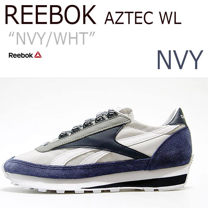 【送料無料】Reebok AZTEC WL NAVY/WHITE【リーボック】【アズテック】【AR0616】 シューズ