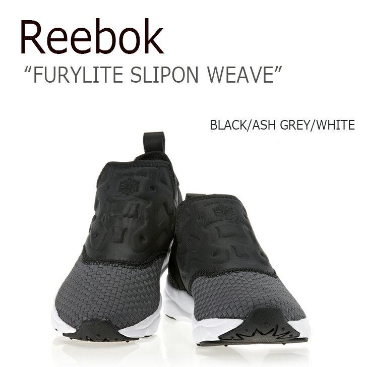 【送料無料】 Reebok FURYLITE SLIPON WEAVE BLACK【リーボック】【フューリーライト】【スリッポン】【BD1431】 シューズ
