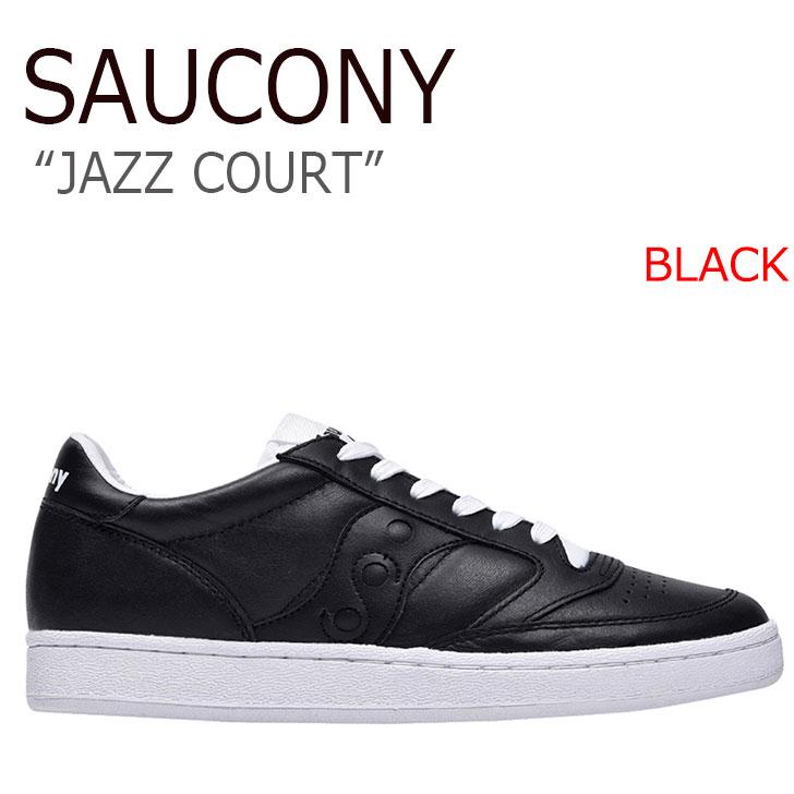 送料無料 サッカニー スニーカー Saucony メンズ JAZZ COURT ジャズコート BLACK ブラック S70373-2 シューズ