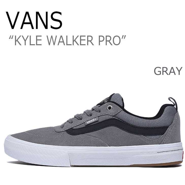 送料無料 バンズ スニーカー VANS メンズ カイル ウォーカー プロ KYLE WALKER PRO GRAY グレー VN0A2XSGMGR シューズ