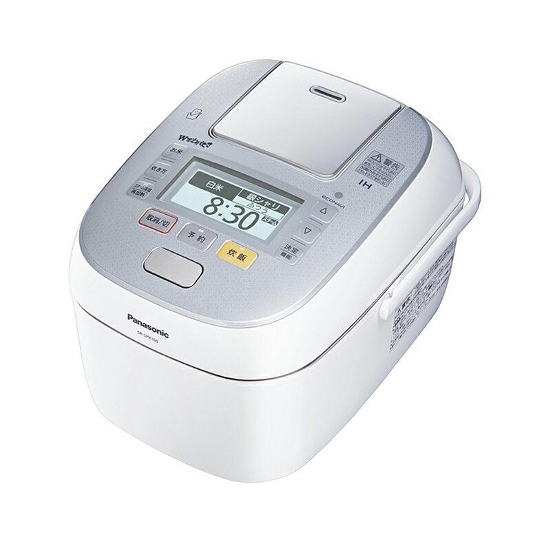 ��料無料】PANASONIC SR-SPX105-W スノークリスタルホワイト W��り炊� [圧力ス�ームIH炊飯器 (5.5�炊�]