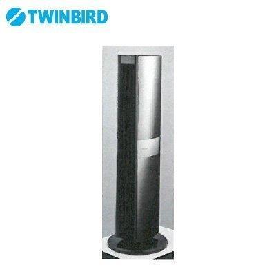 ��料無料】TWINBIRD EF-E991B ブラック [DCミラーミラータワーファン (リモコン付)]