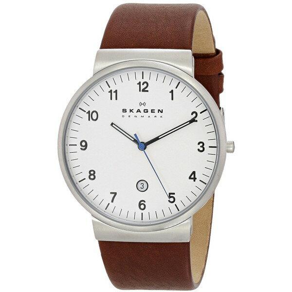 【送料無料】SKAGEN スカーゲン SKW6082 ホワイト×ブラウン [腕時計 メンズ]