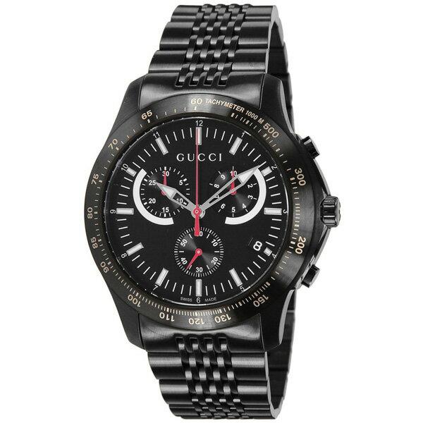 【送料無料】GUCCI グッチ YA126258 Gタイムレス オールブラック [メンズ 腕時計]