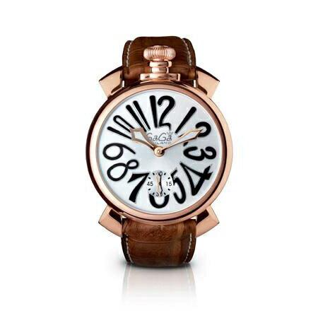 【送料無料】GAGA milano ガガミラノ 5011.06S-BRW マヌアーレ 自動巻き [メンズ 腕時計]