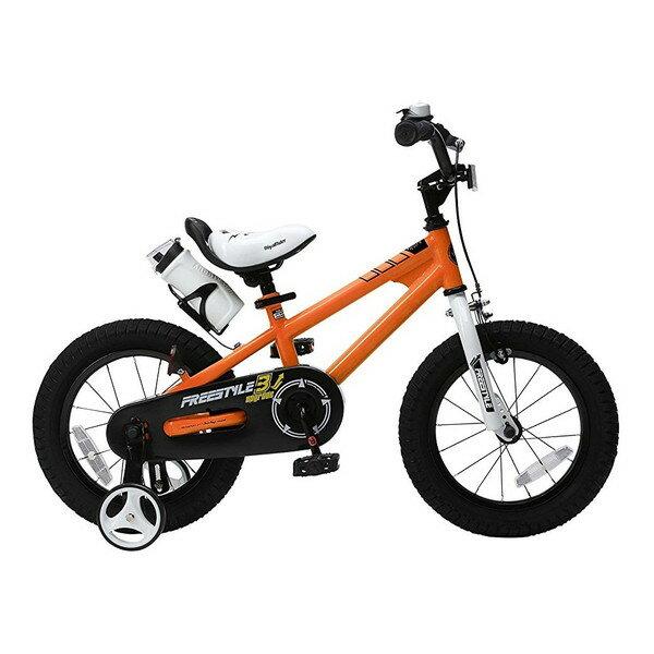 【送料無料】ROYAL BABY RB-WE FREESTYLE 14 orange (35961) [子供用自転車(14インチ)補助輪付き]【同梱配送不可】【代引き不可】【沖縄・北海道・離島配送不可】